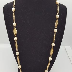 "Boho Retro, Gold plated necklace 24""in
